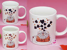 Music color changing mug,Valentine mug +86-20-34881686