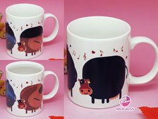 Valentine mug,Color changing mug,gift mug  +86-20-34881686