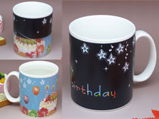 Birthday mug,Color changing mug,gift mug  +86-20-34881686